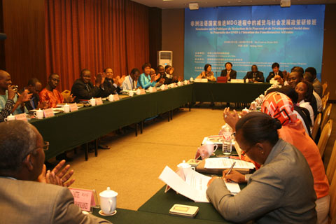 Development Policy in the Promotion of MDG Process for Francophone Africa Successfully Concluded in Beijing